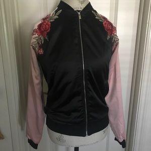 Shein Rose bomber jacket